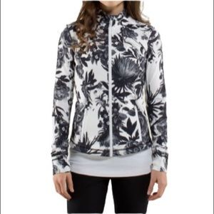LULULEMON Brisk Bloom Black White Forme Jacket